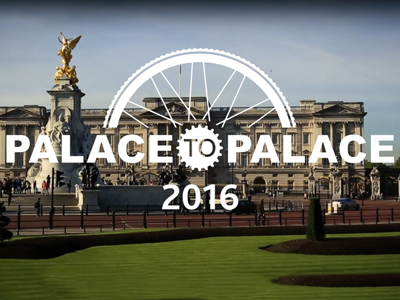 The Palace to Palace cycle ride 2016