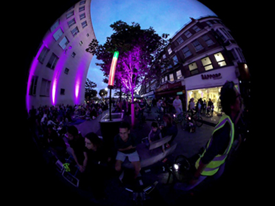 360 degree video of the Peddle power cinema screening for Catford Film