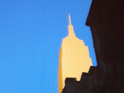 Empire State building acrylic on canvas