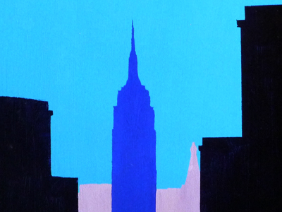 Empire State building 2 acrylic on canvas
