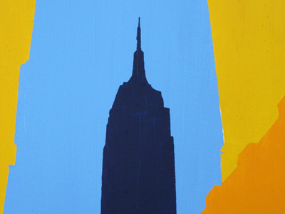 Empire State building 3 acrylic on canvas