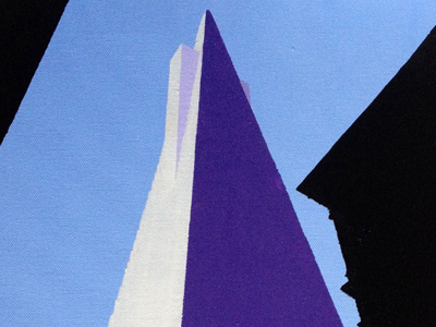The Transamerica building in San Francisco acrylic on canvas